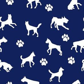 Dog n Paws // Navy Blue