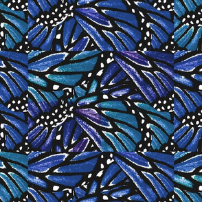 Butterfly Quilt in Blues