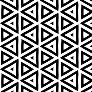 Geometric Black and White Triangle Pattern