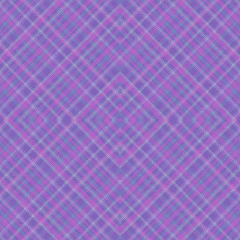 Geometric Plaid Matrix in Periwinkle Purple with Pink and Teal fabric by maryyx on Spoonflower - custom fabric