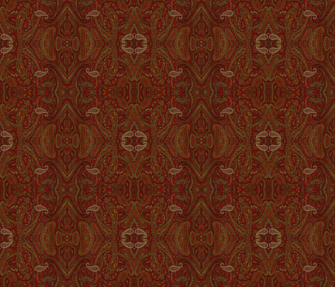 Paisley Red fabric by amyvail on Spoonflower - custom fabric