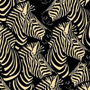 zebra gathering