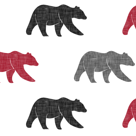 multi bear || the lumberjack collection fabric by littlearrowdesign on Spoonflower - custom fabric