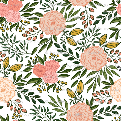 Blooms // Blush and green