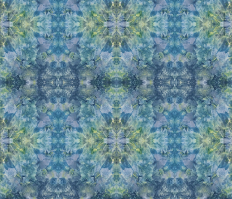 blue yellow ice dye fabric by anne_renata on Spoonflower - custom fabric