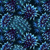 Cactus Floral - Blue