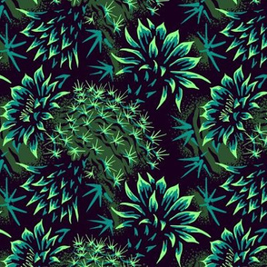 Cactus Floral - Green