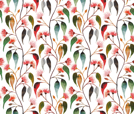 Favourite watercolour blossom fabric by hollydickson on Spoonflower - custom fabric