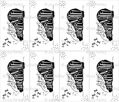 Let'zz hibernate (Lovey/Burp-cloth) // Black and white