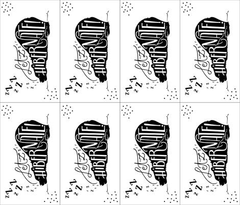 Let'zz hibernate (Lovey/Burp-cloth) // Black and white fabric by howjoyful on Spoonflower - custom fabric