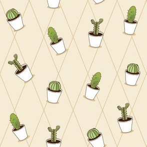 Cartoon cactus pattern