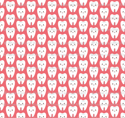 Cute little molar teeth (red)