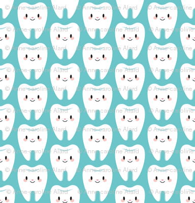 Cute molar teeth (blue)