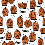 pumpkins // halloween kids cute scary spooky october fall autumn fabric