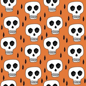 skull // skulls orange creepy scary kooky october halloween cute