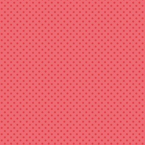 Red polka dots for cute molar teeth