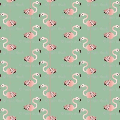 Flamingo Up (green)