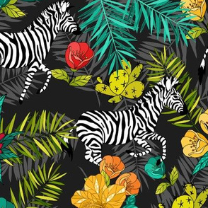Tropical pattern with zebra