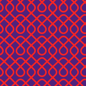 Geometric Red and Purple Pattern