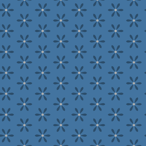 Blue Star Flower fabric by blue_dog_decorating on Spoonflower - custom fabric