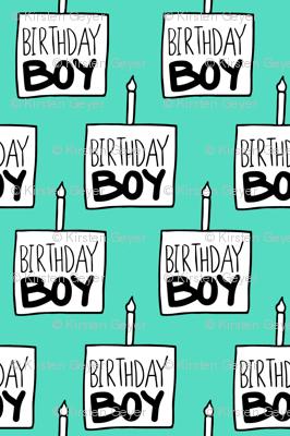 Birthday Boy Mint - Medium