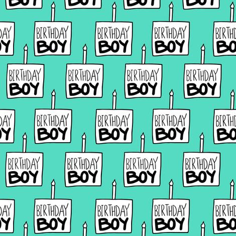 Birthday Boy Mint - Medium fabric by arrowandtheheart on Spoonflower - custom fabric