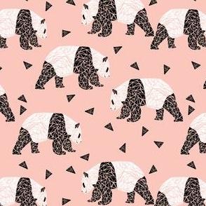 Pink Panda Fabric Wallpaper Gift Wrap Spoonflower