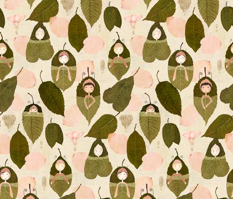 leaf  sleepers fabric by katherine_quinn on Spoonflower - custom fabric