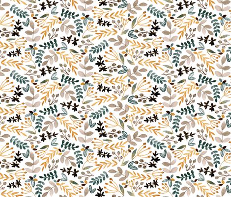 Fall Leaves fabric by bluebirdcoop on Spoonflower - custom fabric