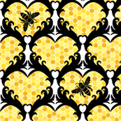 Bee Still My Heart Damask