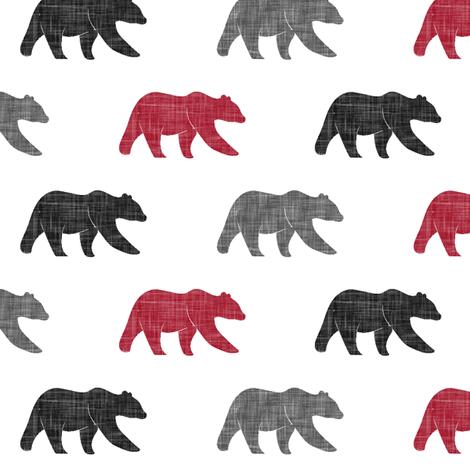 multi bear (small scale) | the lumberjack fabric by littlearrowdesign on Spoonflower - custom fabric