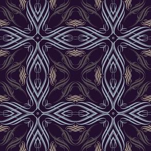 Dark Feather Calligraphic Elements