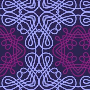 Ropy Purple Calligraphic Elements