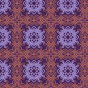 Intricate Purple Knot