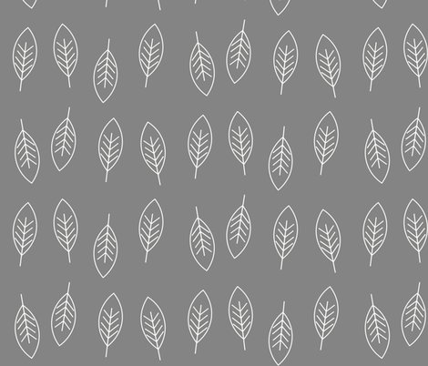 Leaves - trees park garden tree leaves autumn fall 2 fabric by sunny_afternoon on Spoonflower - custom fabric