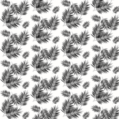 Palm leaves - monochrome SMALL