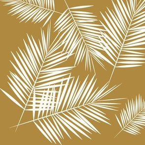 Palm leaf - golden Palm leaves cane Palm tree  mustard brown