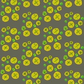 Peas and Corn Dots on Grey