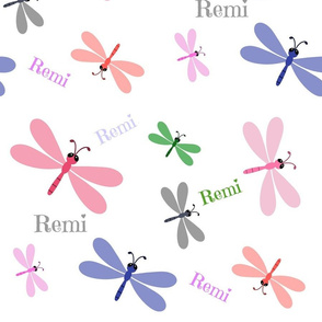 Dragonfly Colorful - XL Personalized all over  REMI