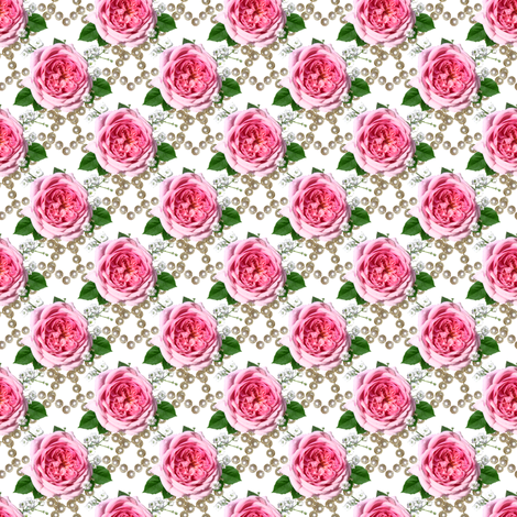 pearls and roses fabric by stofftoy on Spoonflower - custom fabric