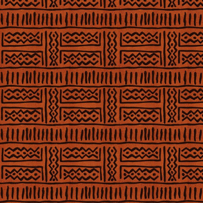Lines & Zig Zags - Rust Chocolate