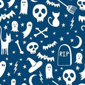 Spooky Halloween Blue