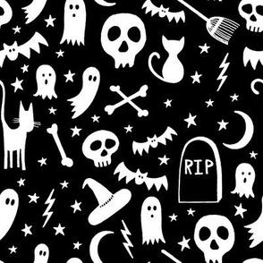 Spooky Halloween Black