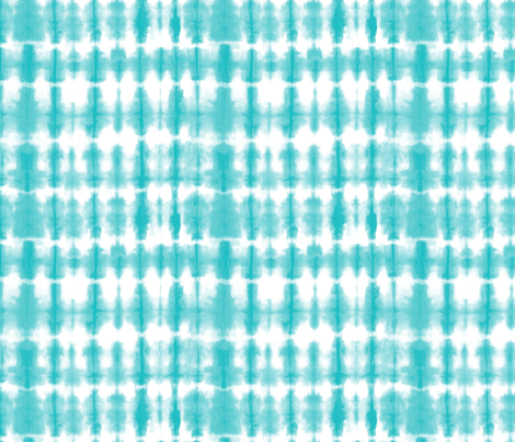 Shibori 02 Aqua 8 inch repeat fabric by theplayfulcrow on Spoonflower - custom fabric