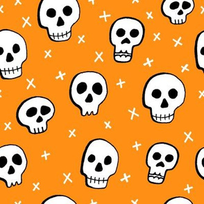 Halloween Skulls Orange