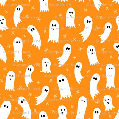 Halloween Ghosts Orange