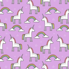 Cute Unicorn Rainbow in Purple Tiny Smal 1,5 inch