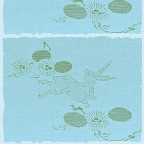 Woodland hare - blue/green
