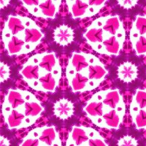 Watercolor Shibori Hot Pink