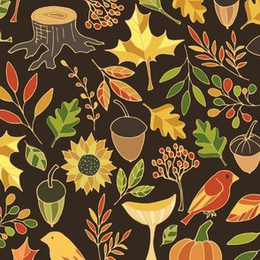 Autumn bright pattern